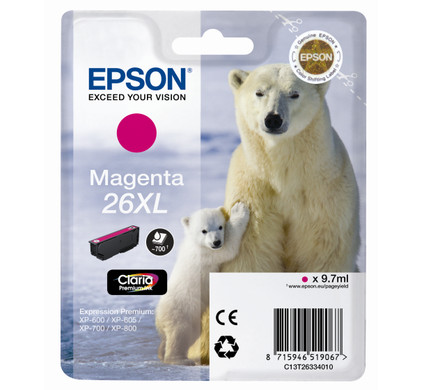 Epson 26 XL Cartridge Magenta (C13T26334010)