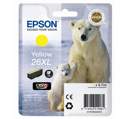 Epson 26 XL Cartridge Geel (C13T26344010)