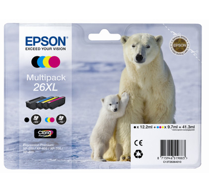 Epson 26 XL 4-Kleuren Pack (C13T26364010)