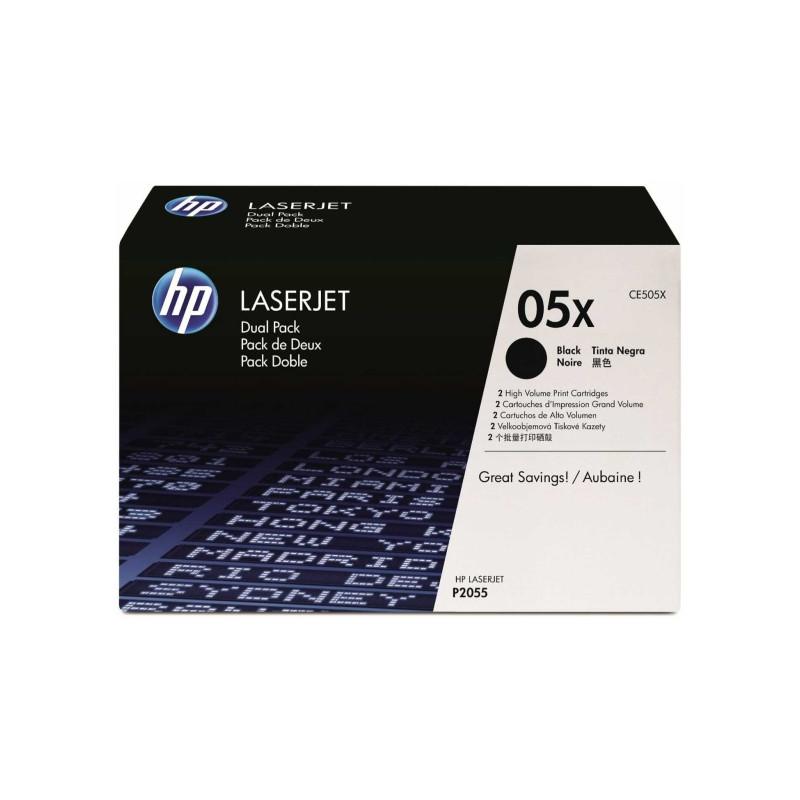 Hp 05xd Laserjet Toner Zwart Dual Pack (ce505xd)