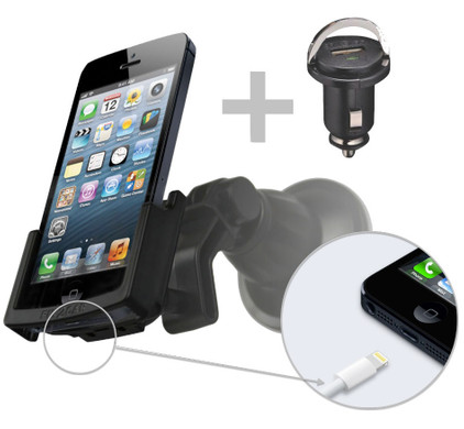 Fix2Car Passive Holder Apple iPhone 5/5S/SE w Suction Cup
