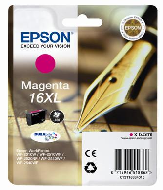 Epson 16 XL Inktcartridge Magenta C13T16334010