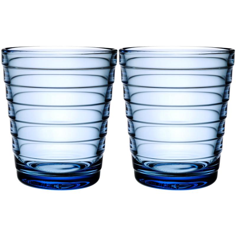 Iittala Aino Aalto Glas 22 Cl Lichtblauw (2 Stuks)