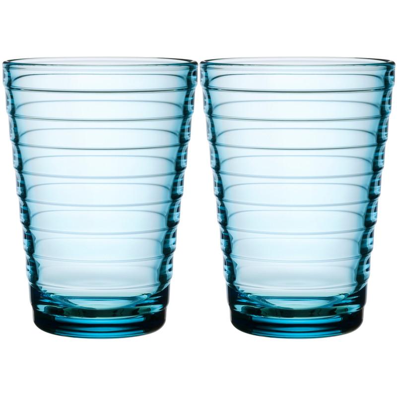 Iittala Aino Aalto Glas 33 Cl Lichtblauw (2 Stuks)