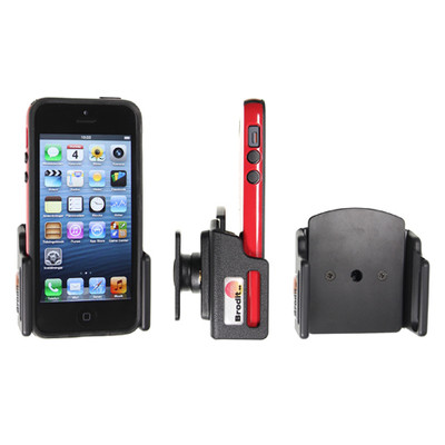 Brodit Passive Holder Apple iPhone 5 / 5S with Skin verstelbaar 62-77/6-10