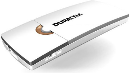 Duracell 3-uurs mobiele oplader Wit