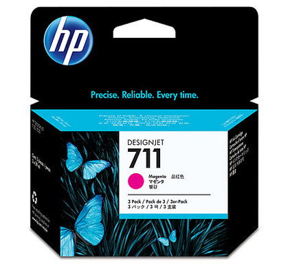 HP 711 Ink Cartridge Magenta 3-Pack (CZ135A)