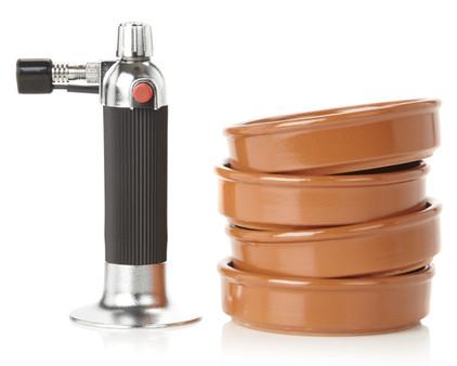 Voccelli Creme Brulee Set Brander + 4 Schaaltjes