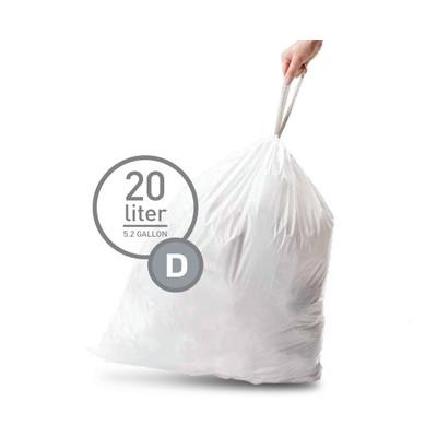 Image of Simplehuman Afvalzak Code D - 20 Liter (20 stuks)