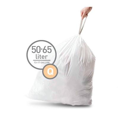 Simplehuman Afvalzak Code Q - 50 Liter (20 stuks)