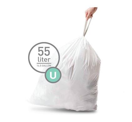 Simplehuman Afvalzak Code U - 55 Liter (20 stuks)