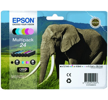 Epson 24 Inktcartridge 6 Colour Multipack C13T24284010