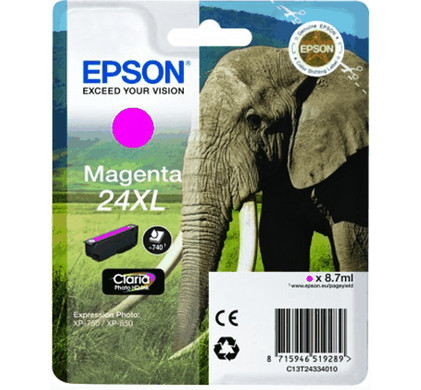 Epson 24 XL Inktcartridge Magenta C13T24334010