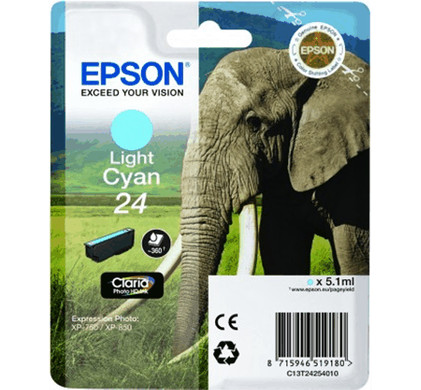 Epson 24 Inktcartridge Licht Cyaan C13T24254010