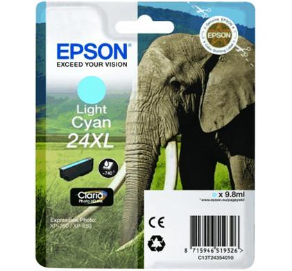 Epson 24 XL Inktcartridge Licht Cyaan C13T24354010
