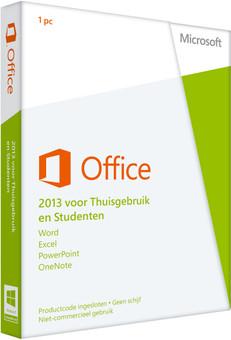 Microsoft Office Thuisgebruik en Studenten 2013 NL PKC