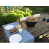 product in gebruik LotusGrill Tafelbarbecue Rood