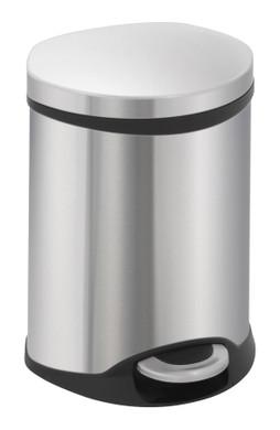 EKO Pedaalemmer Schelp 6 Liter RVS Mat