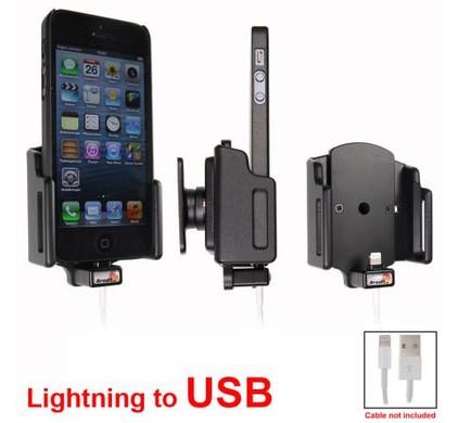 Brodit Passive Holder iPhone 5 / 5S verstelbaar 59-63/6-10 USB