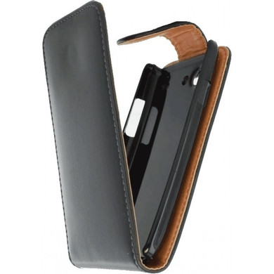 Xccess Leather Flip Case Samsung Galaxy S III Mini Zwart