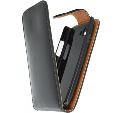 Xccess Leather Flip Case Samsung Galaxy S III Mini Zwart