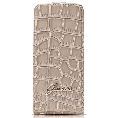Guess Flip Case Crocodile Apple iPhone 5 / 5S Beige
