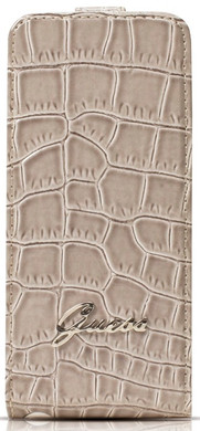 Guess Flip Case Crocodile Apple iPhone 5/5S/SE Beige