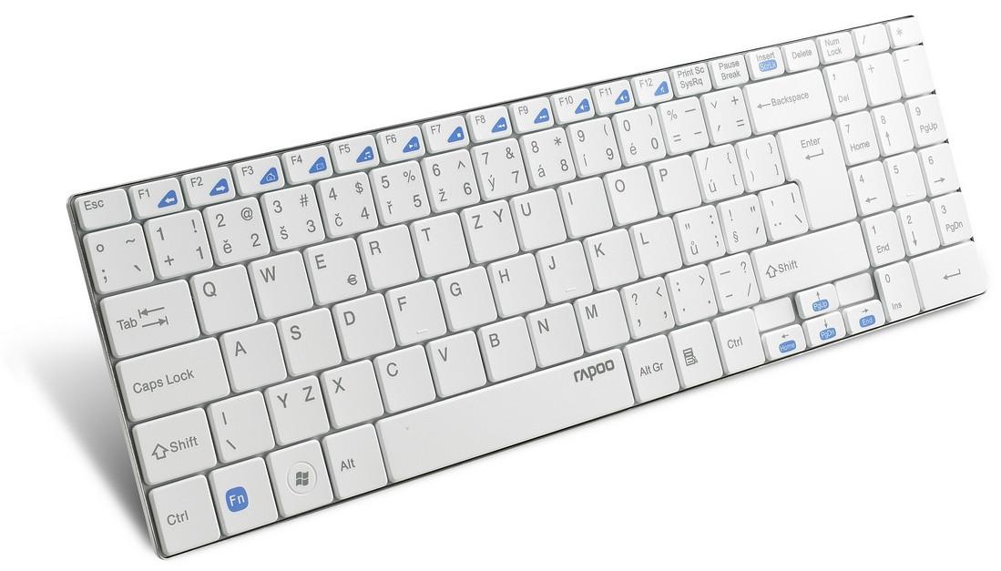 Rapoo E9070 Draadloos Toetsenbord Wit
