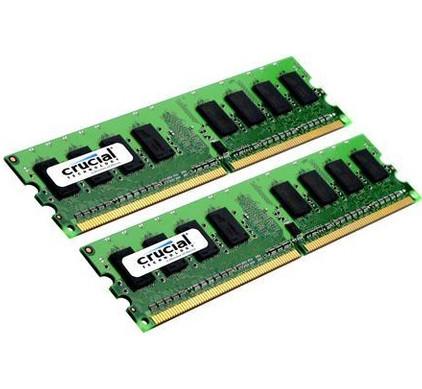 Crucial 4 GB DIMM DDR2-800 2 x 2 GB