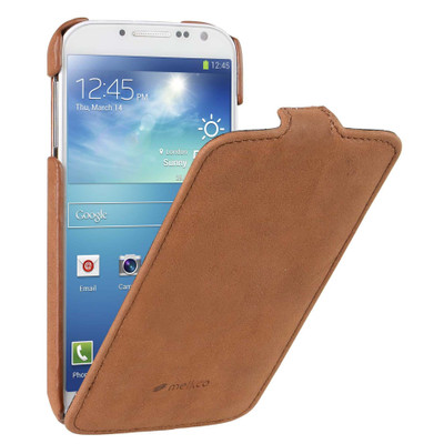 Melkco Leather Case Samsung Galaxy S4 Vintage Brown