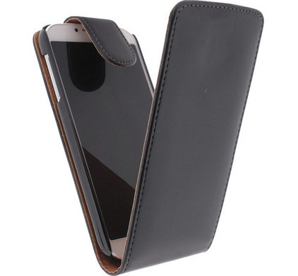 Xccess Leather Flip Case Samsung Galaxy S4 Zwart