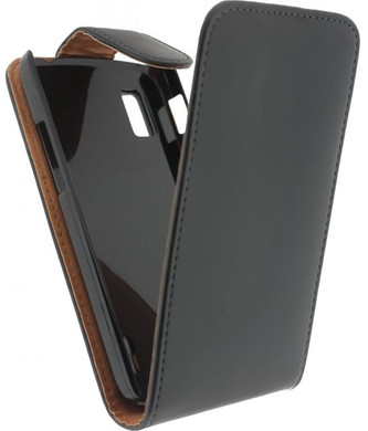 Xccess Leather Flip Case LG Nexus 4 Zwart
