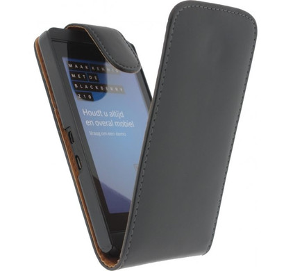 Xccess Leather Flip Case BlackBerry Z10 Zwart