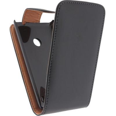 Xccess Leather Flip Case Nokia Lumia 520 Black