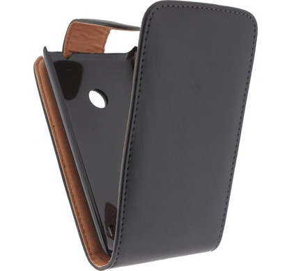 Xccess Leather Flip Case Nokia Lumia 520 Zwart