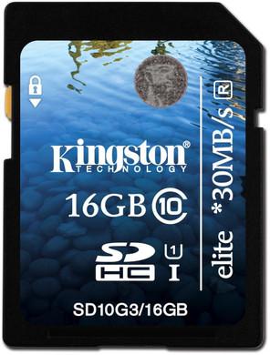 Kingston SDHC Elite 16 GB Class 10