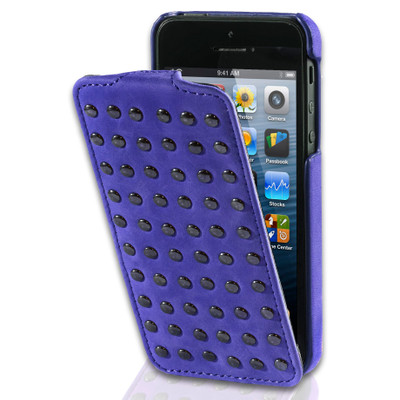 Image of Decoded Flip Case With Studs Apple iPhone 4/4S Paars