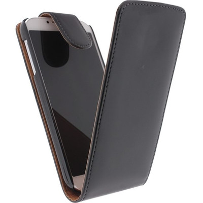 Xccess Leather Flip Case Samsung Galaxy S4 Mini Black
