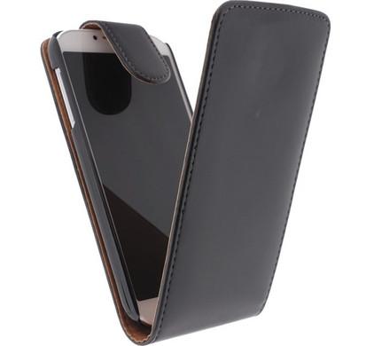 Xccess Leather Flip Case Samsung Galaxy S4 Mini Zwart
