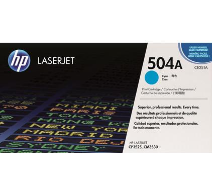 HP 504A LaserJet Toner Cyaan (CE251A)