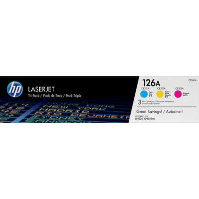 Image of 126A LaserJet tonercartridge (CF341A), 3-pack