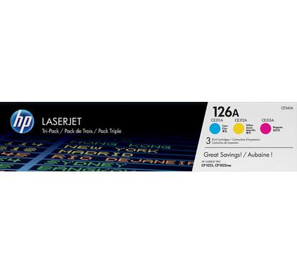 HP 126A LaserJet Toner Tri-pack (CF341A)