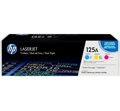 HP 125A LaserJet Toner Tri-pack (CF373AM)