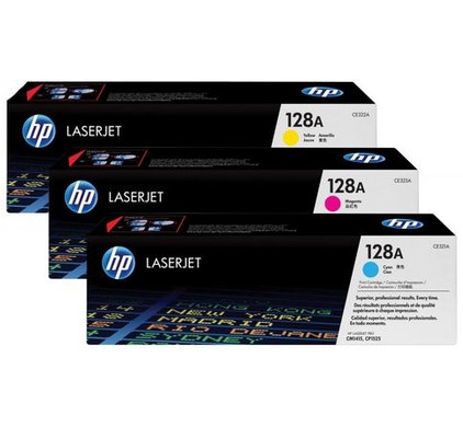 HP 128A LaserJet Toner Tri-pack (CF371AM)