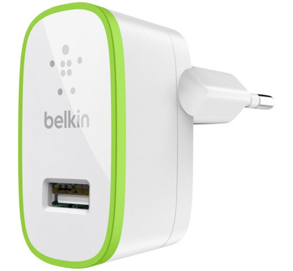Belkin Thuislader USB 2,1A Green Ring White