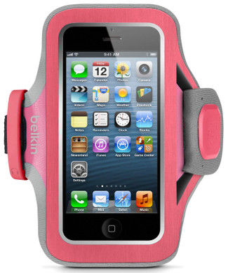Belkin SlimFit Sport Armband Apple iPhone 5/5S/SE Pink