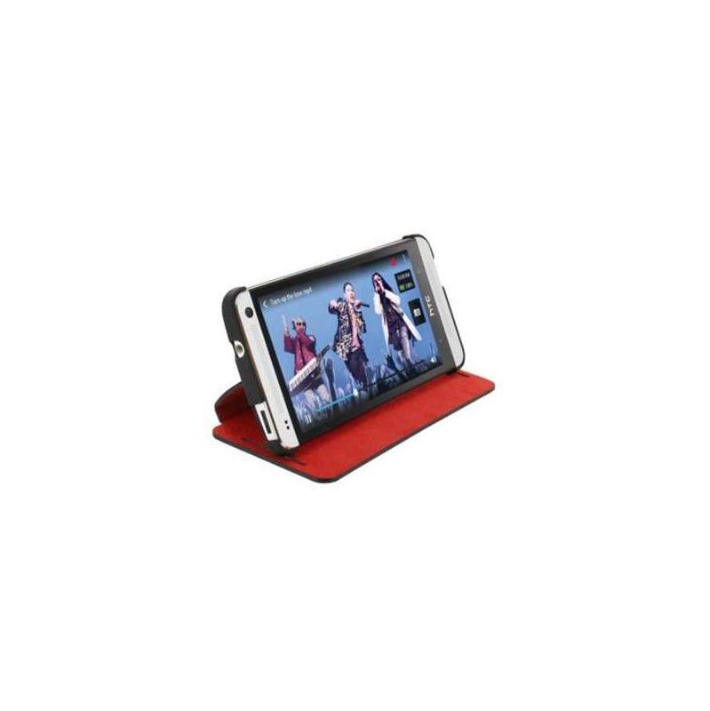 Htc Book Case Htc One Mini Zwart/rood