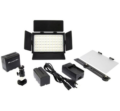 Falcon Eyes LED Lamp Set Dimbaar DV-216VC-K2 incl. Accu