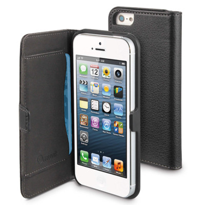 Muvit Folio Slim Case with Cardslot Apple iPhone 5 / 5S Black