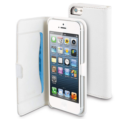Muvit Folio Slim Case with Cardslot Apple iPhone 5 / 5S White